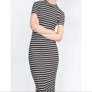 Zara striped maxi dress